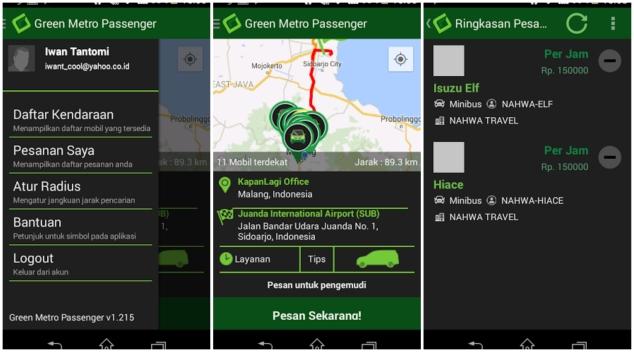 Green Metro Car