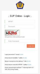 Login DJP Online
