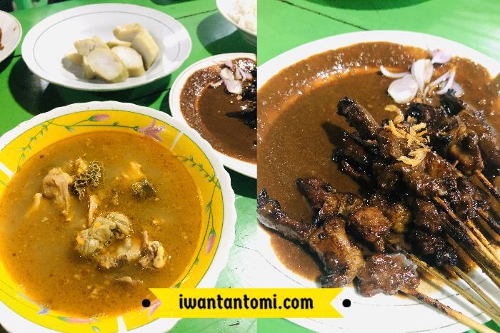 Sate enak di Malang, Sate Gule Kambing Pak Sabar Malang Paket Komplit Buat Makan Malam