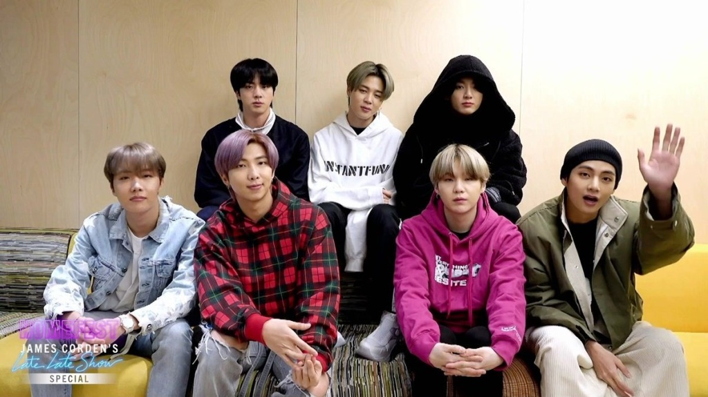 BTS Tetap Lincah Bawakan Boy With Luv, Meski Sedang Karantina Wabah Corona di Korea (c) James Corden