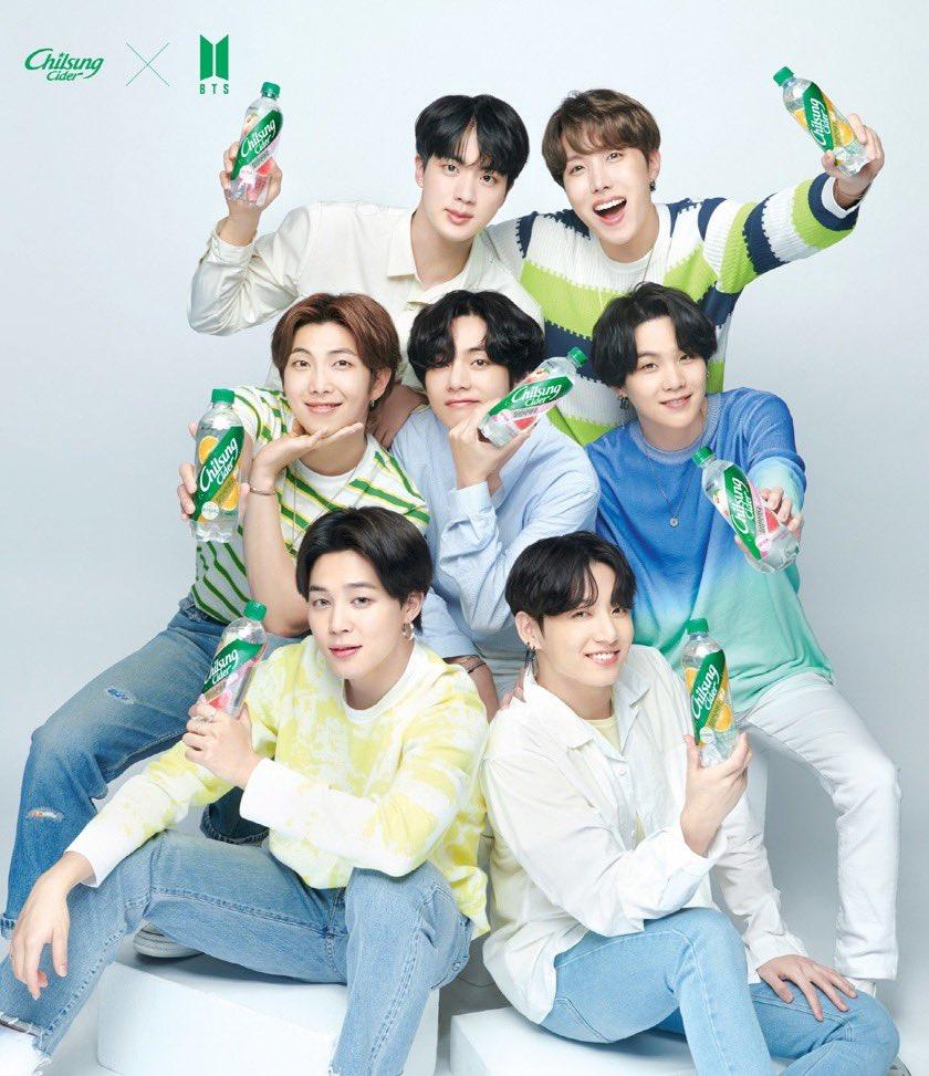 BTS X Chilsung Cider Tampilkan Foto Baru Brand Minuman Soda Terbesar di Korea